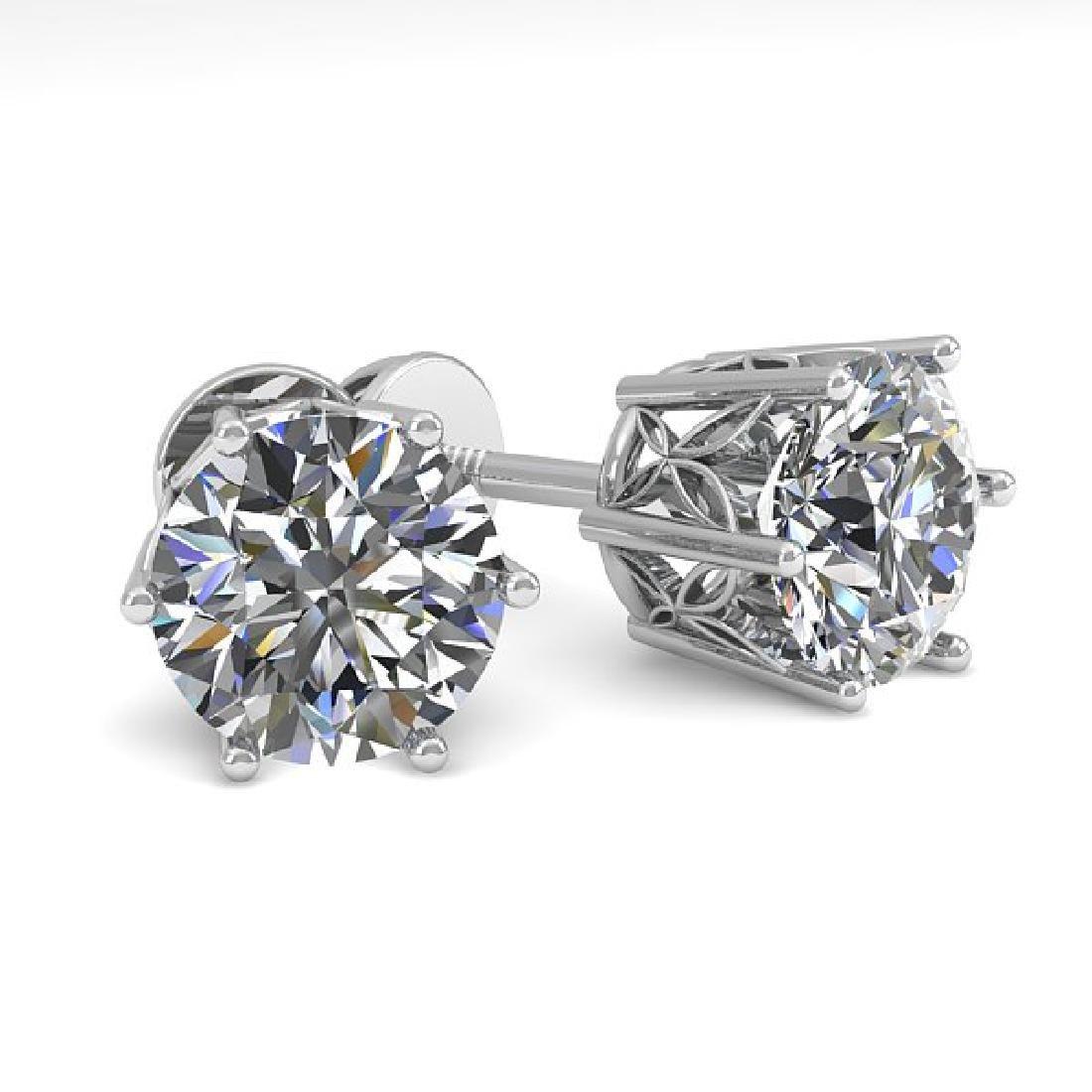 2.03 CTW Certified VS/SI Diamond Stud Solitaire