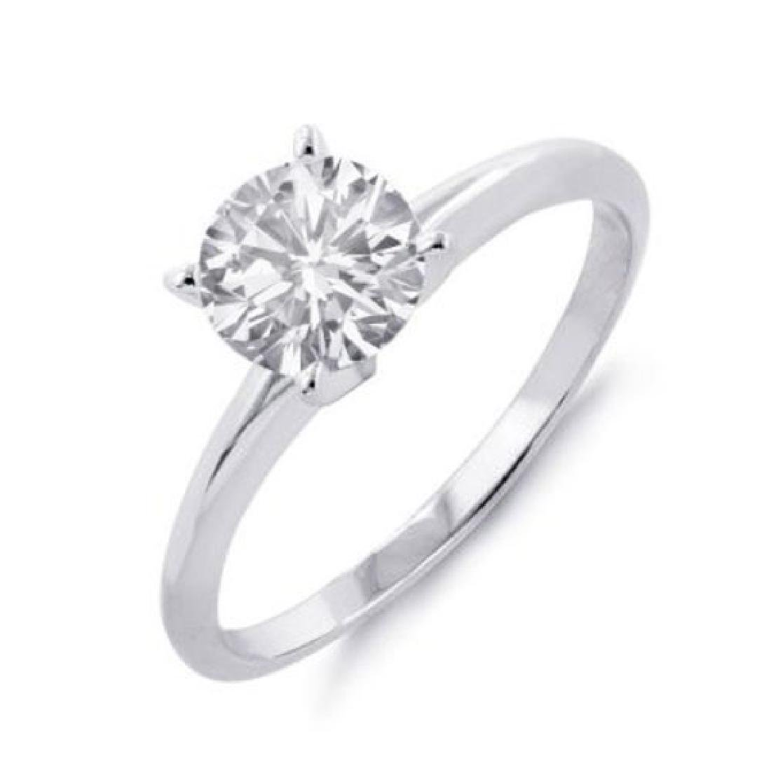 1.50 CTW Certified VS/SI Diamond Solitaire Ring 18K