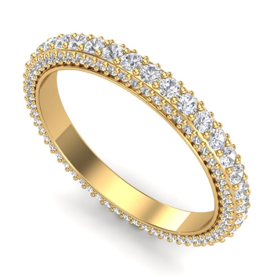 1.75 CTW VS/SI Diamond Art Deco Eternity Ring 18K