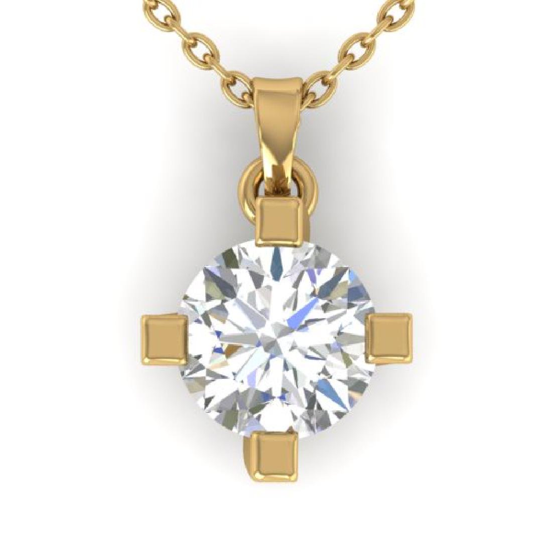 1 CTW Certified VS/SI Diamond Solitaire Necklace 14K