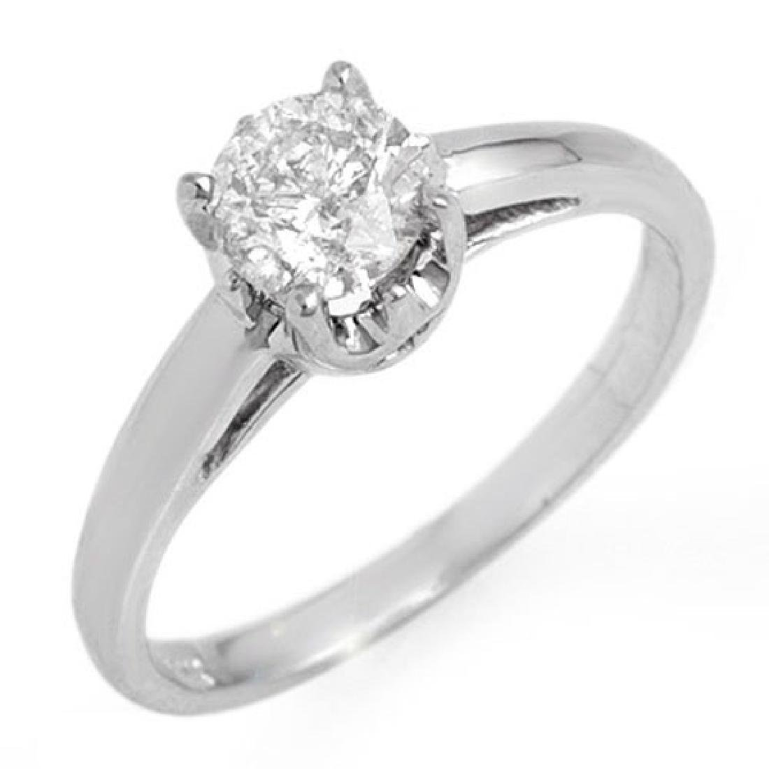 0.80 CTW Certified VS/SI Diamond Solitaire Ring 18K