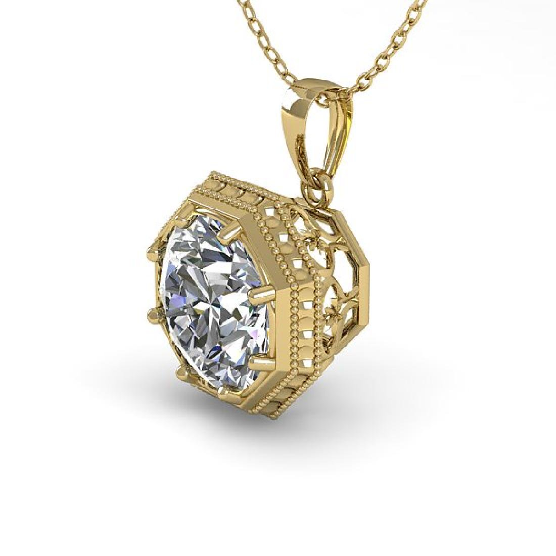 0.50 CTW VS/SI Diamond Solitaire Necklace 18K Yellow