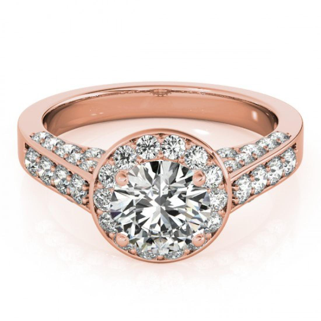 1.8 CTW Certified VS/SI Diamond Solitaire Halo Ring 18K