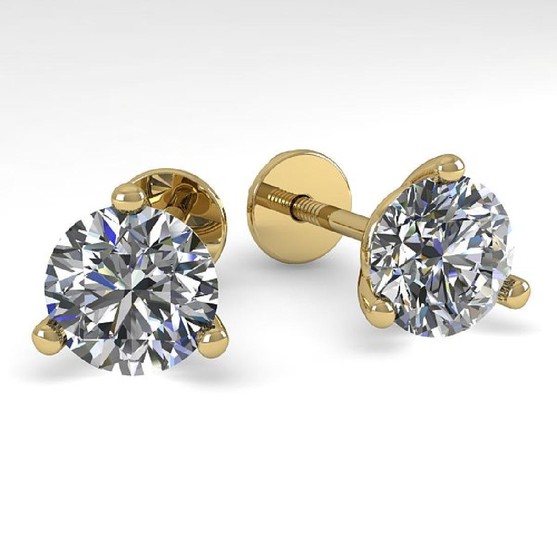 2.0 CTW Certified VS/SI Diamond Stud Earrings 18K