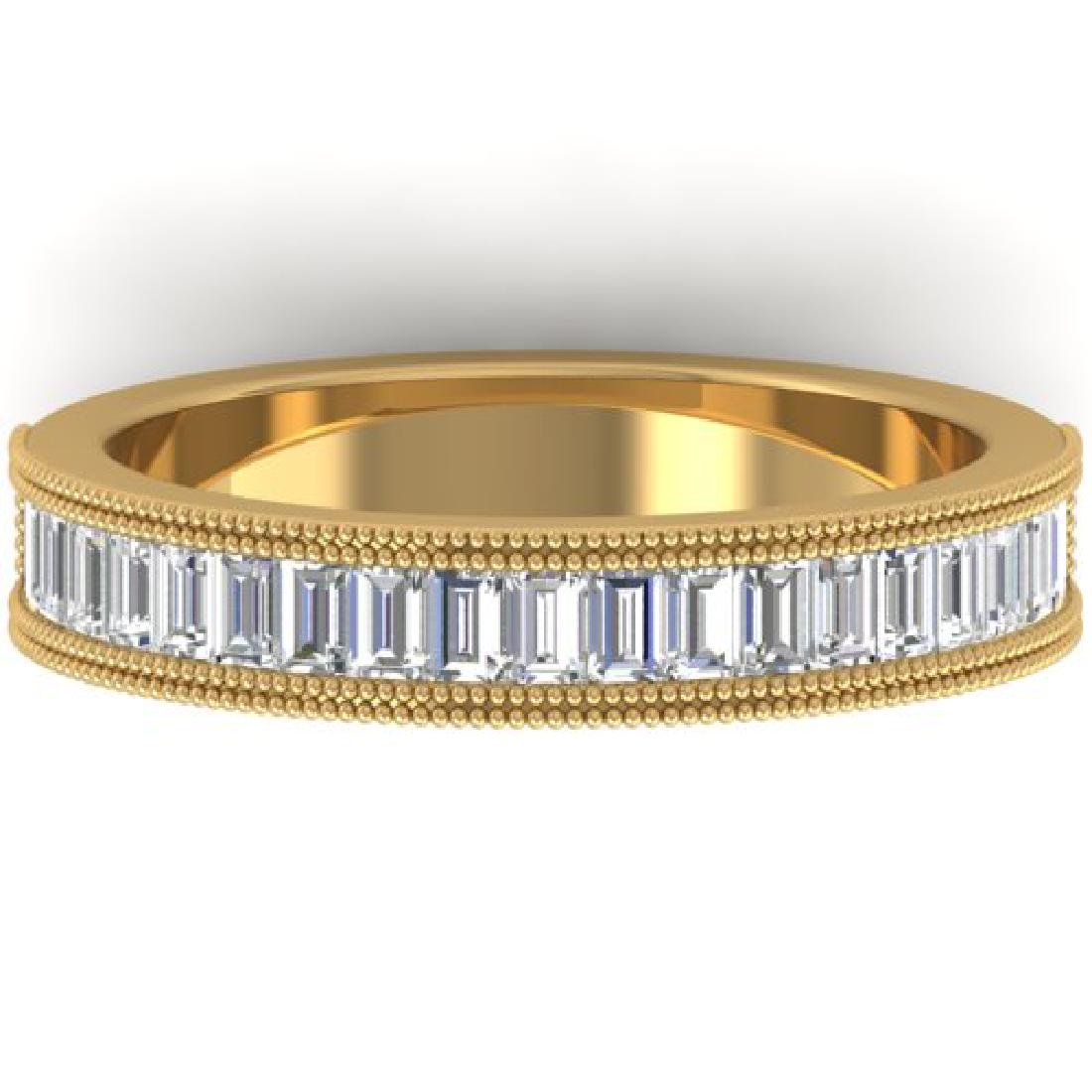 1 CTW Baguette VS/SI Diamond Art Deco Eternity Band 14K