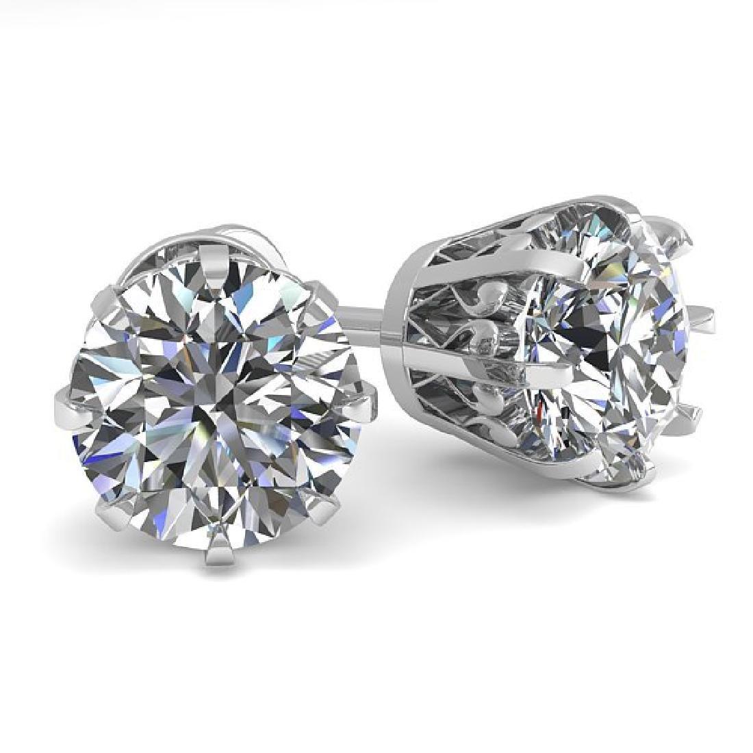 2.03 CTW VS/SI Diamond Stud Solitaire Earrings 18K
