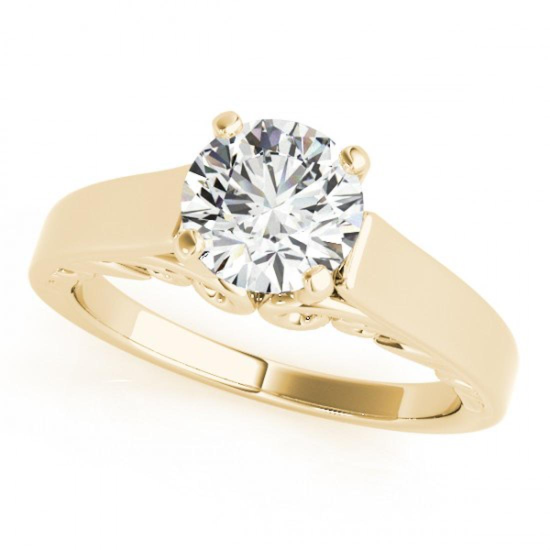 1 CTW Certified VS/SI Diamond Solitaire Ring 18K Yellow