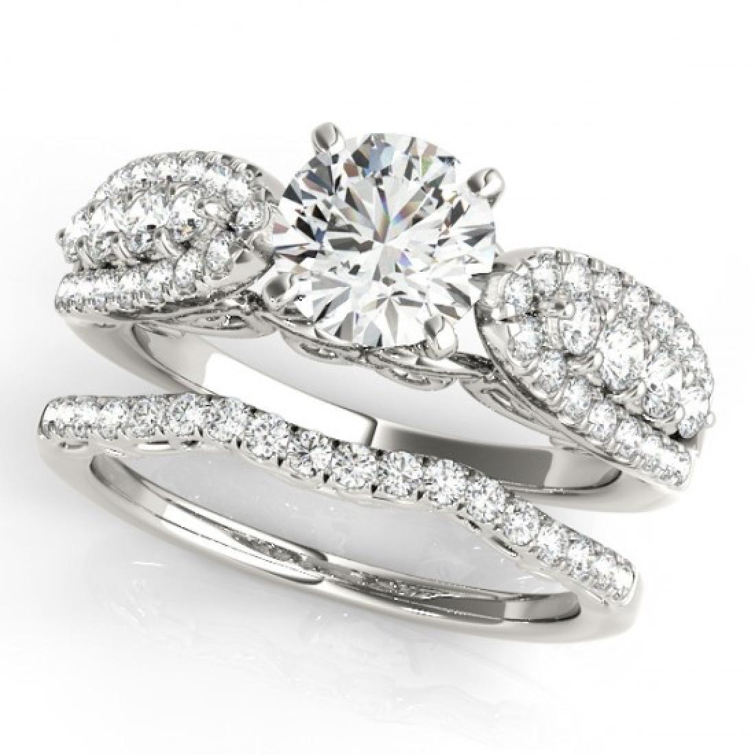 1.71 CTW Certified VS/SI Diamond Solitaire 2Pc Wedding