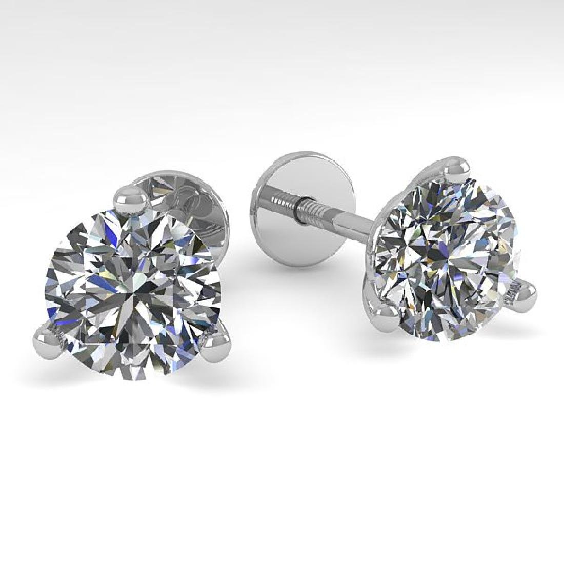 2.01 CTW Certified VS/SI Diamond Stud Earrings 18K