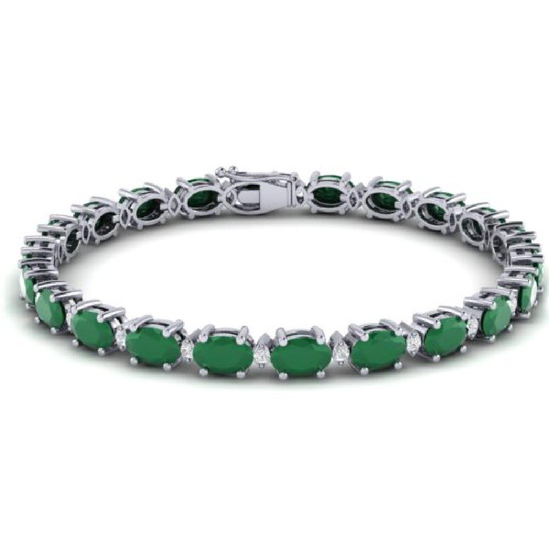 30.8 CTW Emerald & VS/SI Certified Diamond Eternity