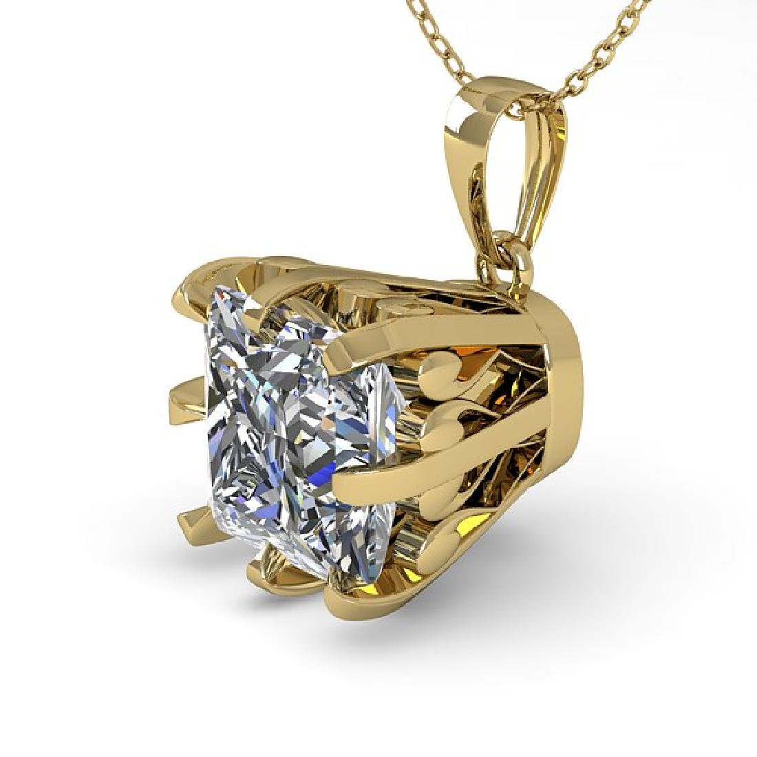 1 CTW Certified VS/SI Princess Diamond Necklace 18K