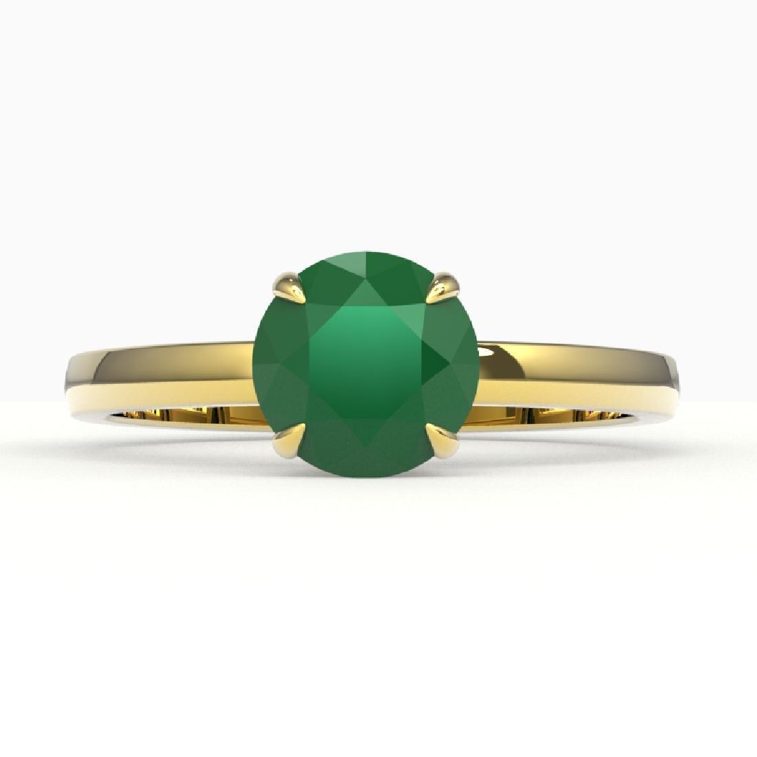 2 CTW Emerald Designer Inspired Solitaire Engagement