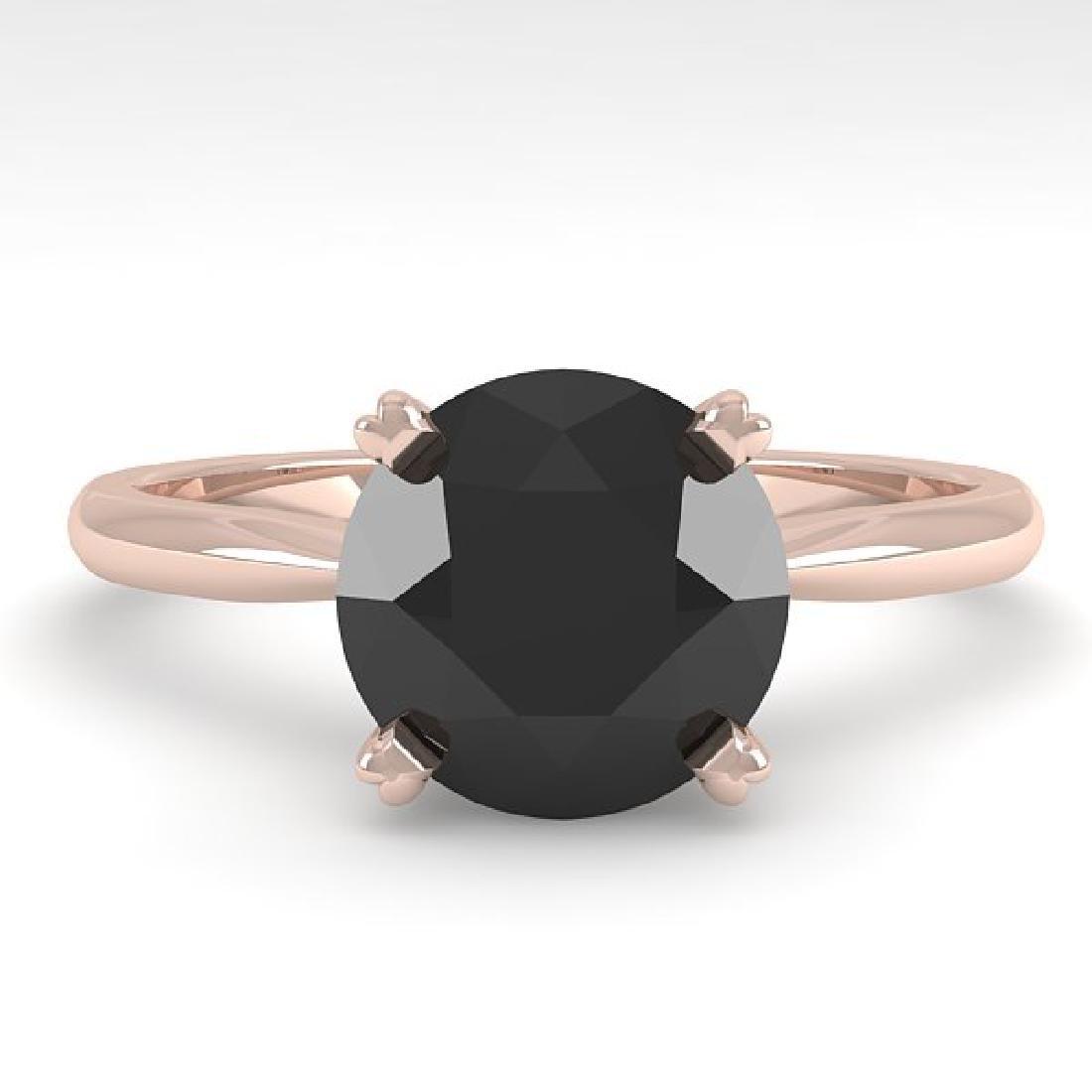2.0 CTW Black Diamond Engagement Designer Ring 14K Rose
