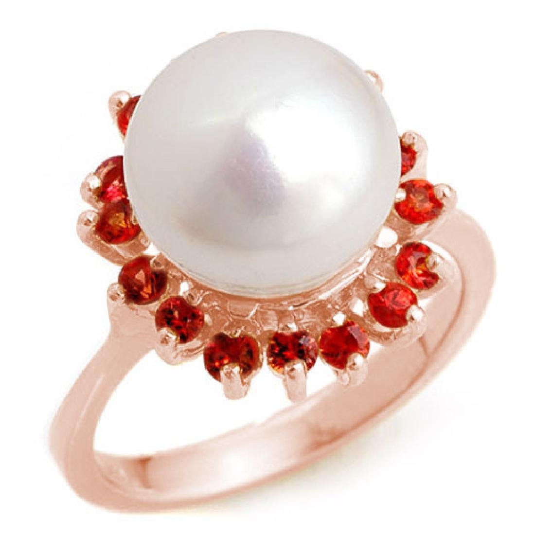 0.75 CTW Red Sapphire Ring 14K Rose Gold