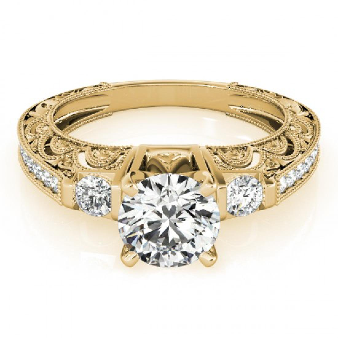 1.63 CTW Certified VS/SI Diamond Solitaire Antique Ring