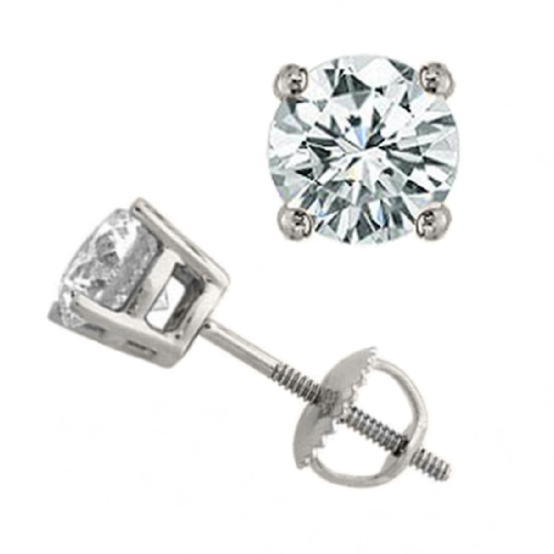 1.50 CTW Certified VS/SI Diamond Solitaire Stud