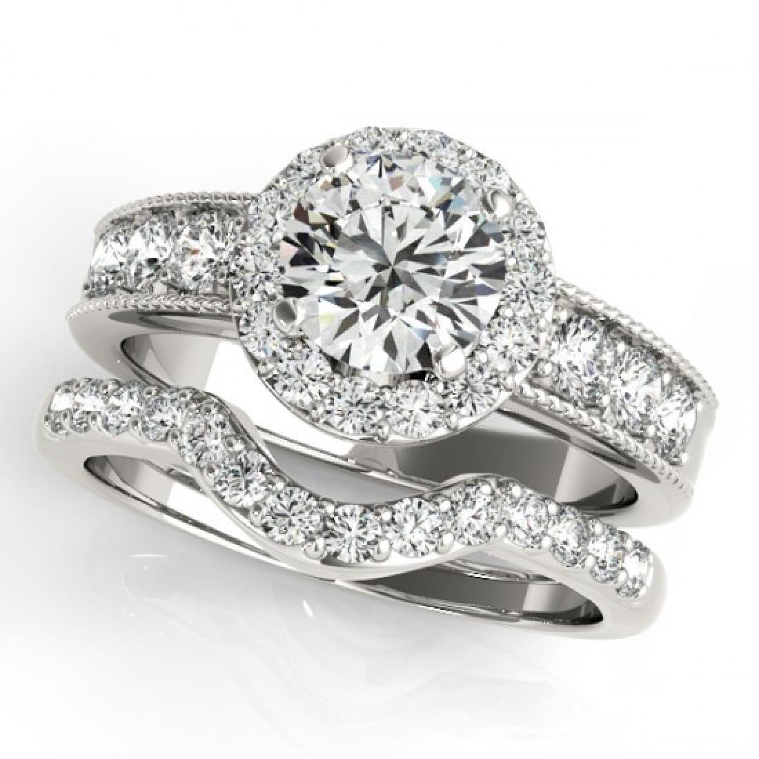 2.46 CTW Certified VS/SI Diamond 2Pc Wedding Set