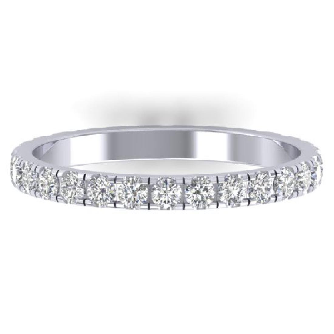 0.86 CTW Certified VS/SI Diamond Art Deco Eternity Band