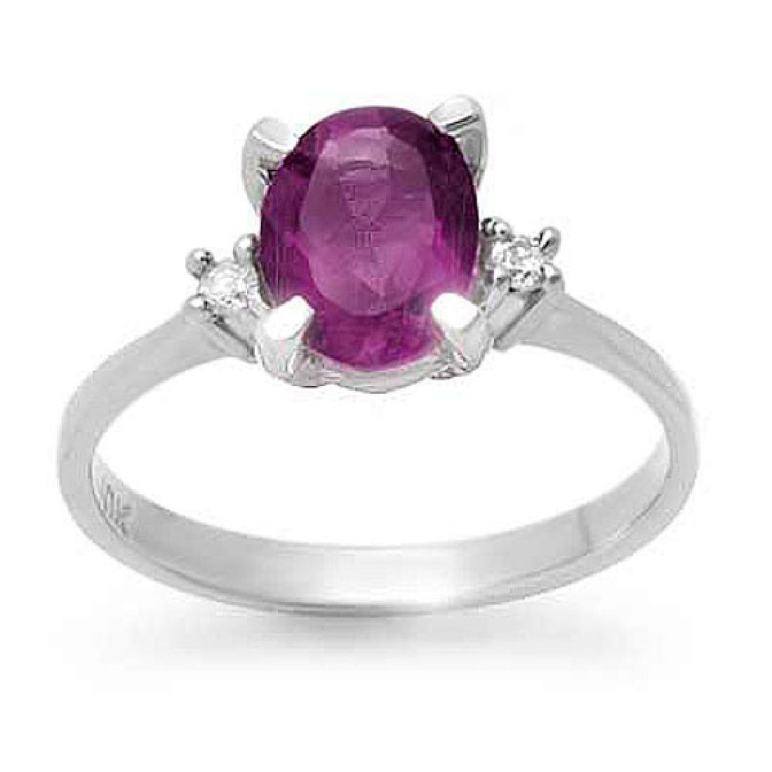 1.53 CTW Amethyst & Diamond Ring 10K Yellow Gold
