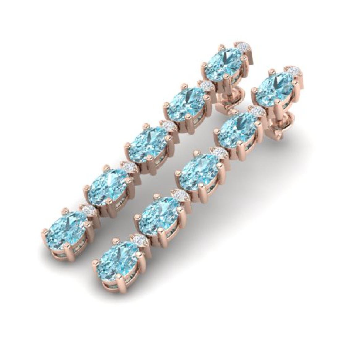 15.47 CTW Sky Blue Topaz & VS/SI Certified Diamond