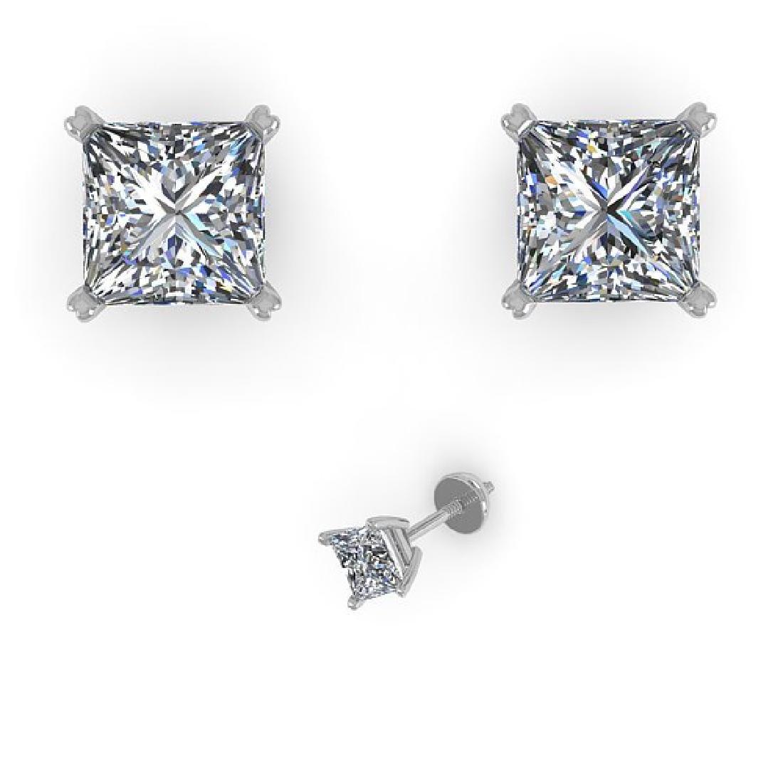 1.03 CTW Princess Cut VS/SI Diamond Stud Designer