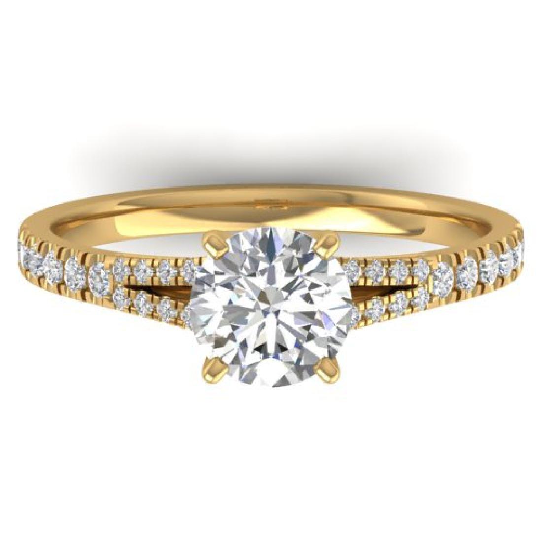 1.36 CTW Certified VS/SI Diamond Solitaire Art Deco
