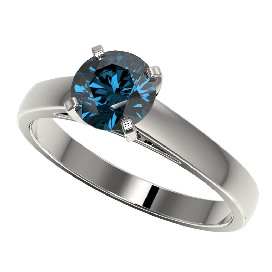 1.28 CTW Certified Intense Blue SI Diamond Solitaire