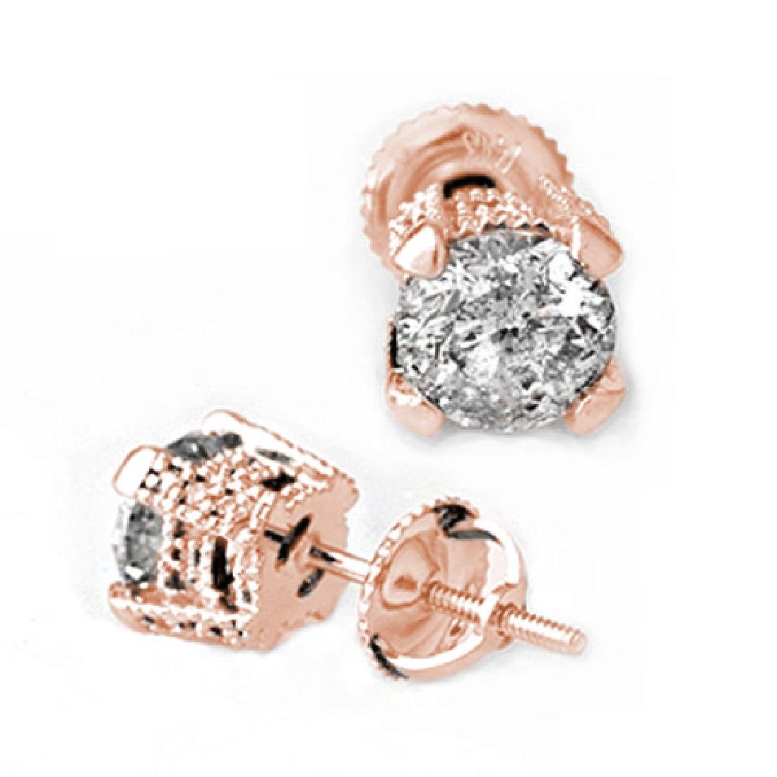 2.0 CTW Certified VS/SI Diamond Solitaire Stud Earrings