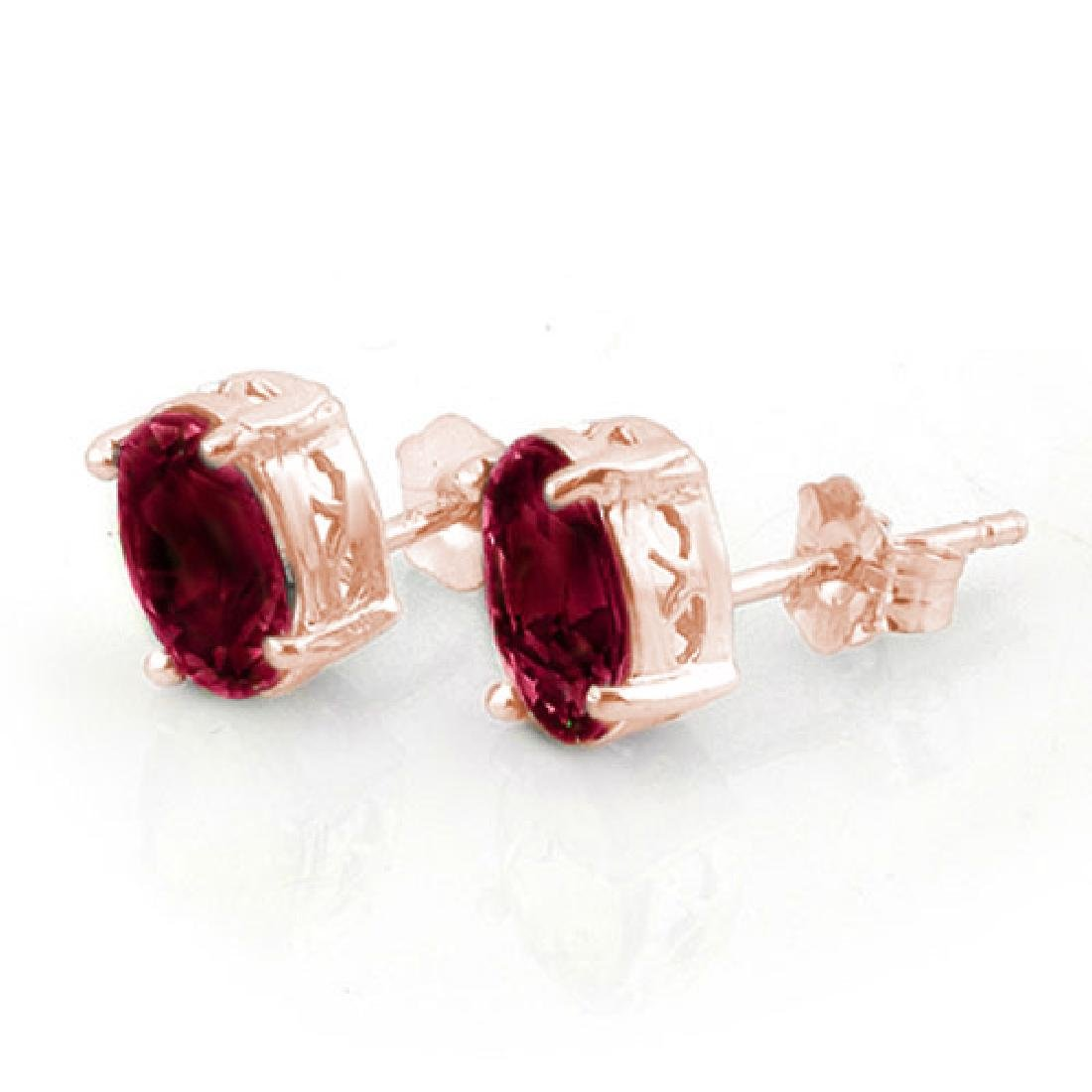 1.50 CTW Ruby Earrings 14K Rose Gold