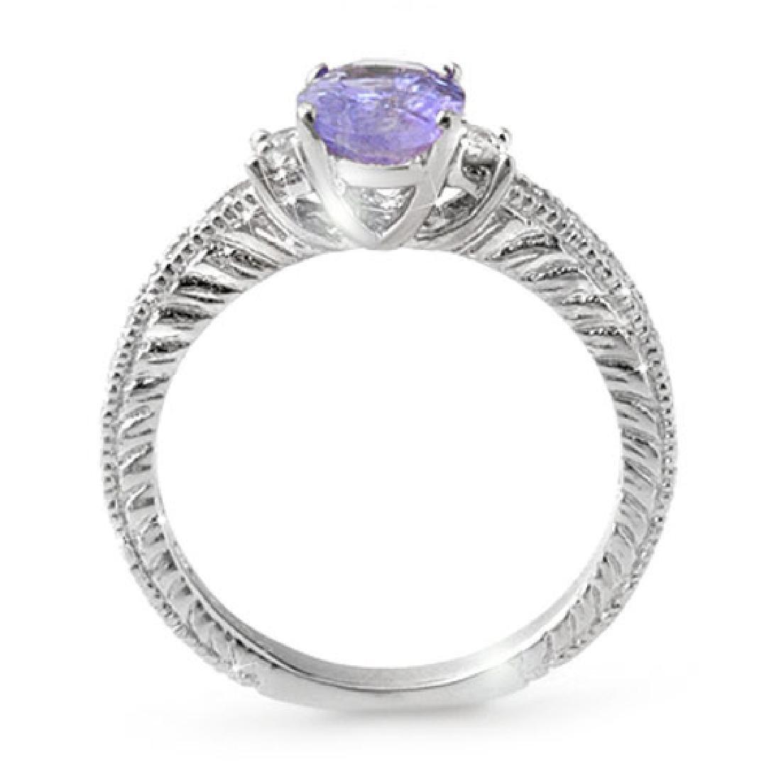 1.82 CTW Tanzanite & Diamond Ring 14K White Gold - 2