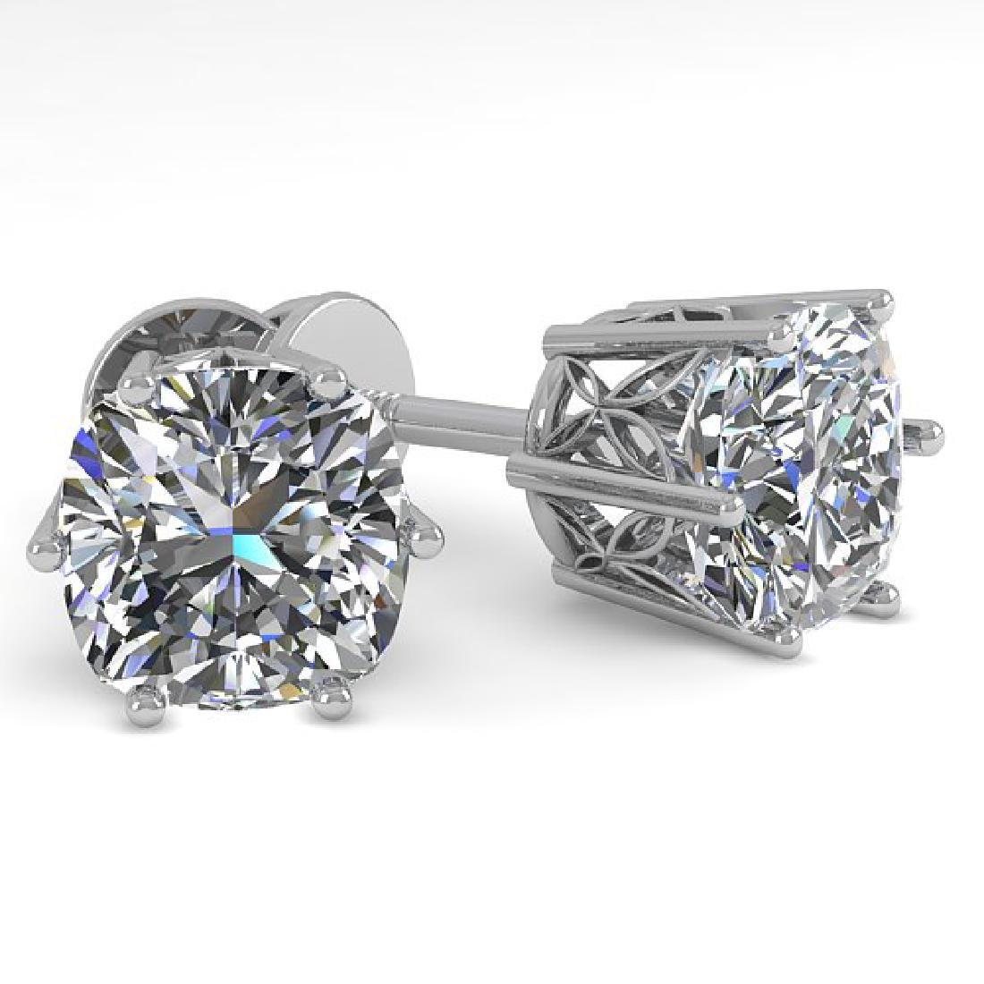 1.0 CTW VS/SI Cushion Cut Diamond Stud Solitaire