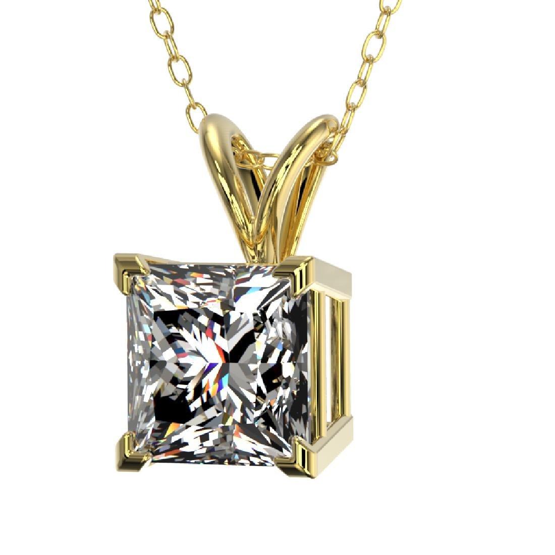 1.25 CTW Certified VS/SI Quality Princess Diamond - 2