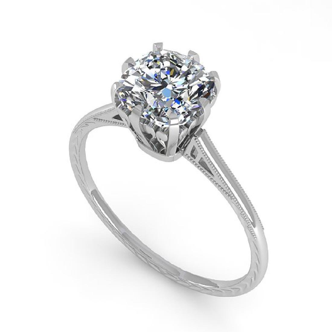 1.0 CTW Certified VS/SI Cushion Diamond Engagement Ring - 2