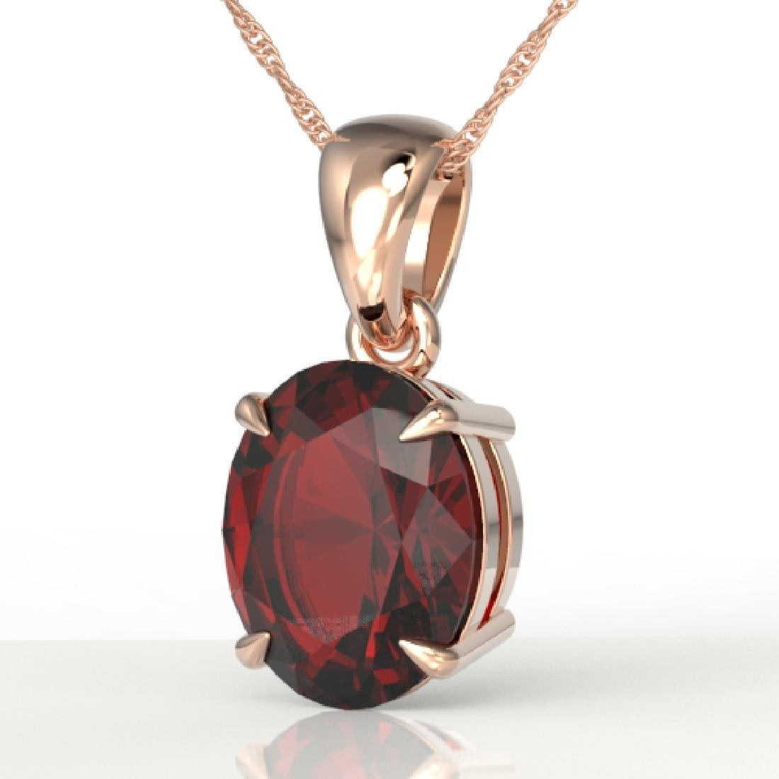 3.50 CTW Garnet Designer Inspired Solitaire Necklace