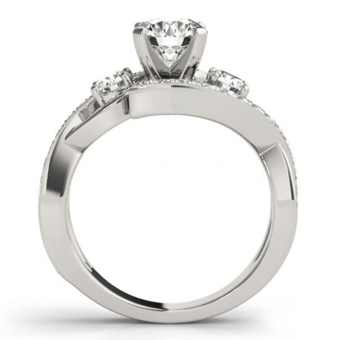 1.76 CTW Certified VS/SI Diamond Bypass Solitaire Ring - 2