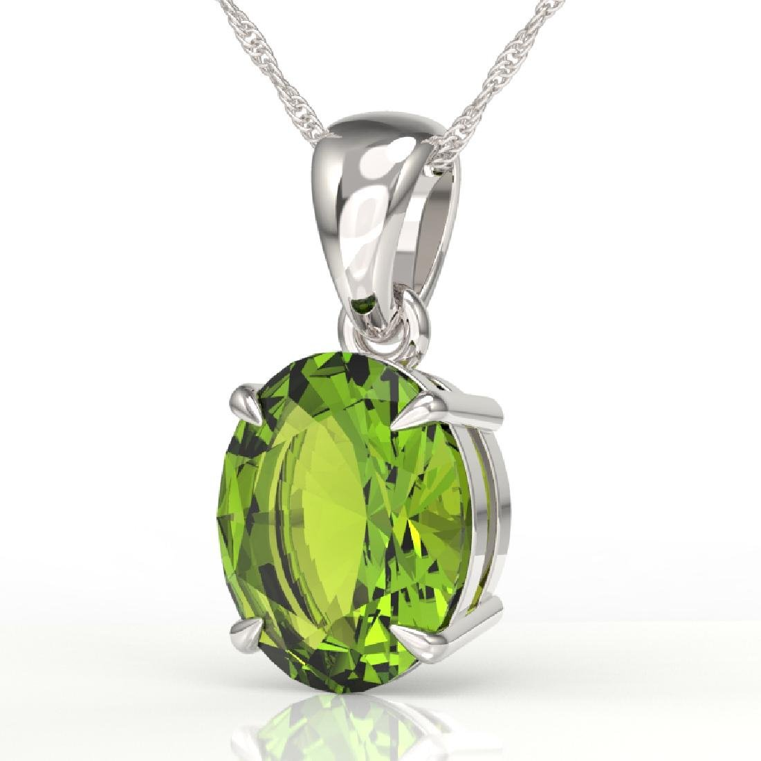 2.75 CTW Peridot Designer Inspired Solitaire Necklace