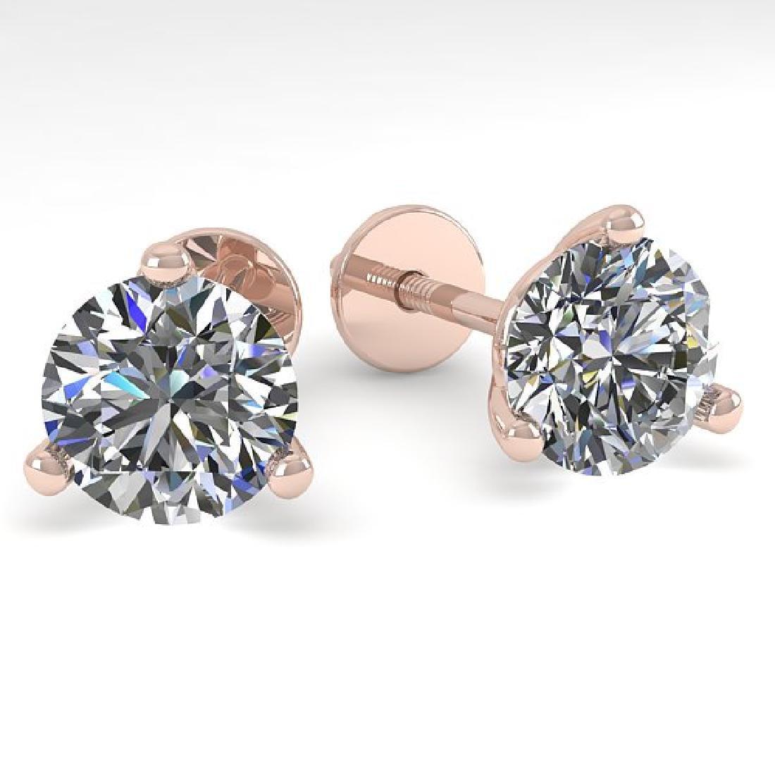 1.53 CTW Certified VS/SI Diamond Stud Earrings Martini