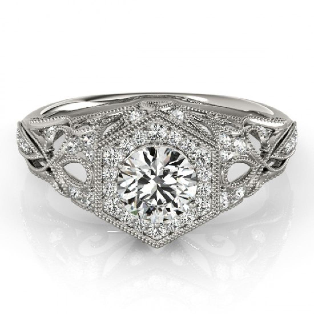 1.15 CTW Certified VS/SI Diamond Solitaire Halo Ring