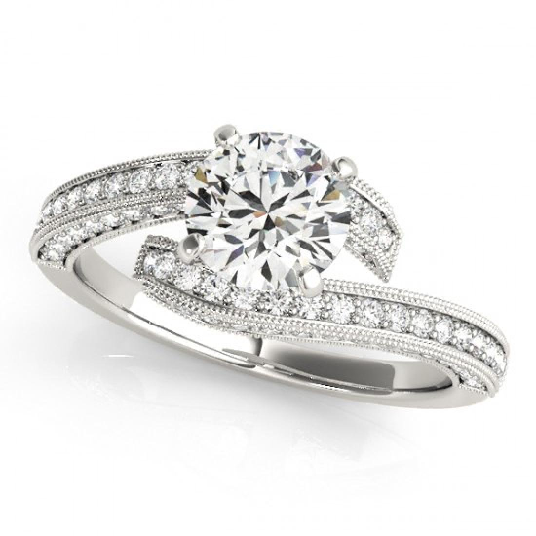 1.75 CTW Certified VS/SI Diamond Bypass Solitaire Ring - 2