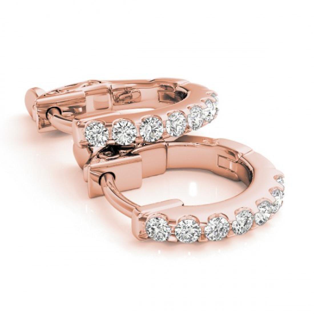 0.25 CTW Diamond VS/SI Certified Hoop Earrings 14K Rose