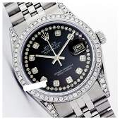 Rolex Ladies Stainless Steel Diamond Dial  Diamond