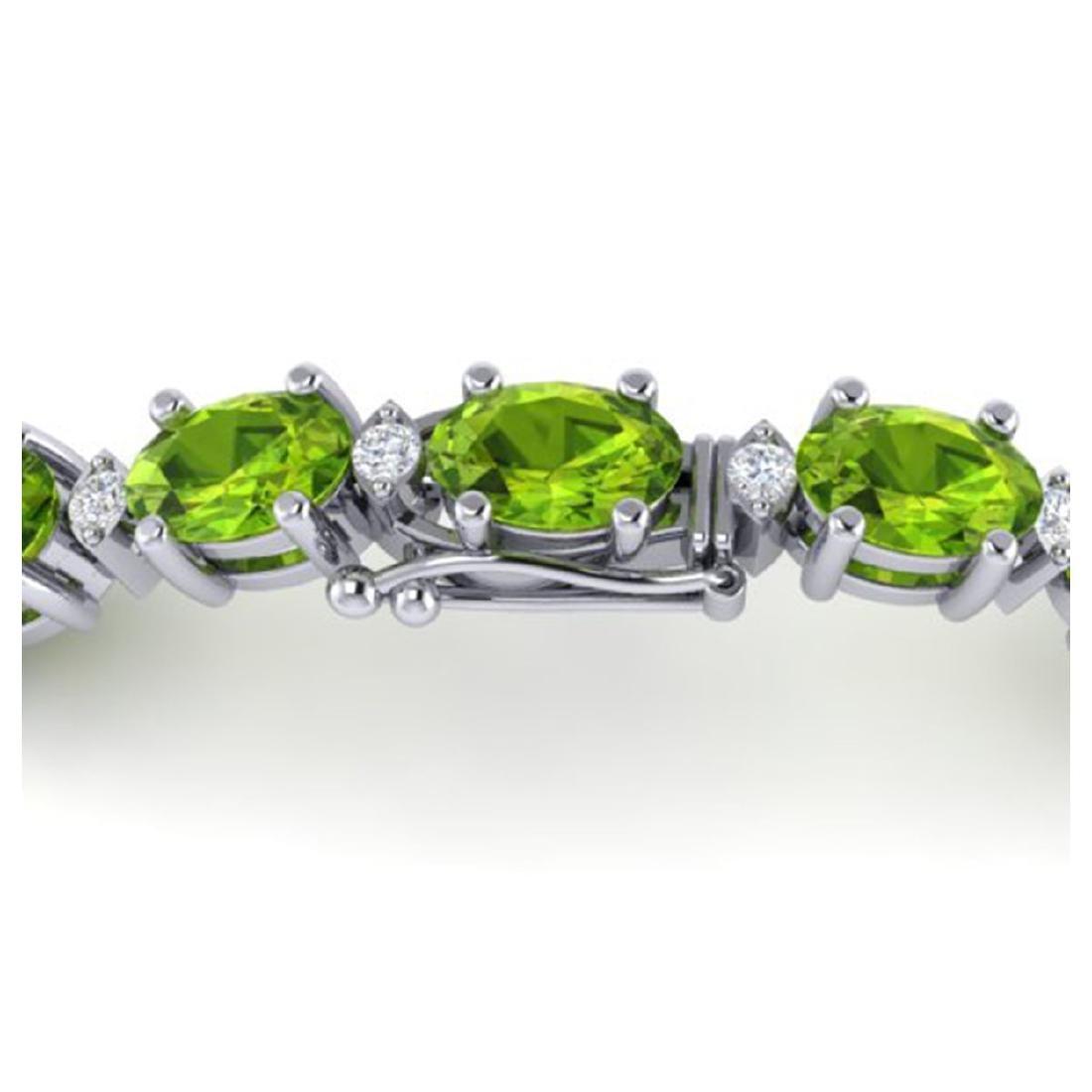 19.7 CTW Peridot & VS/SI Certified Diamond Eternity - 3