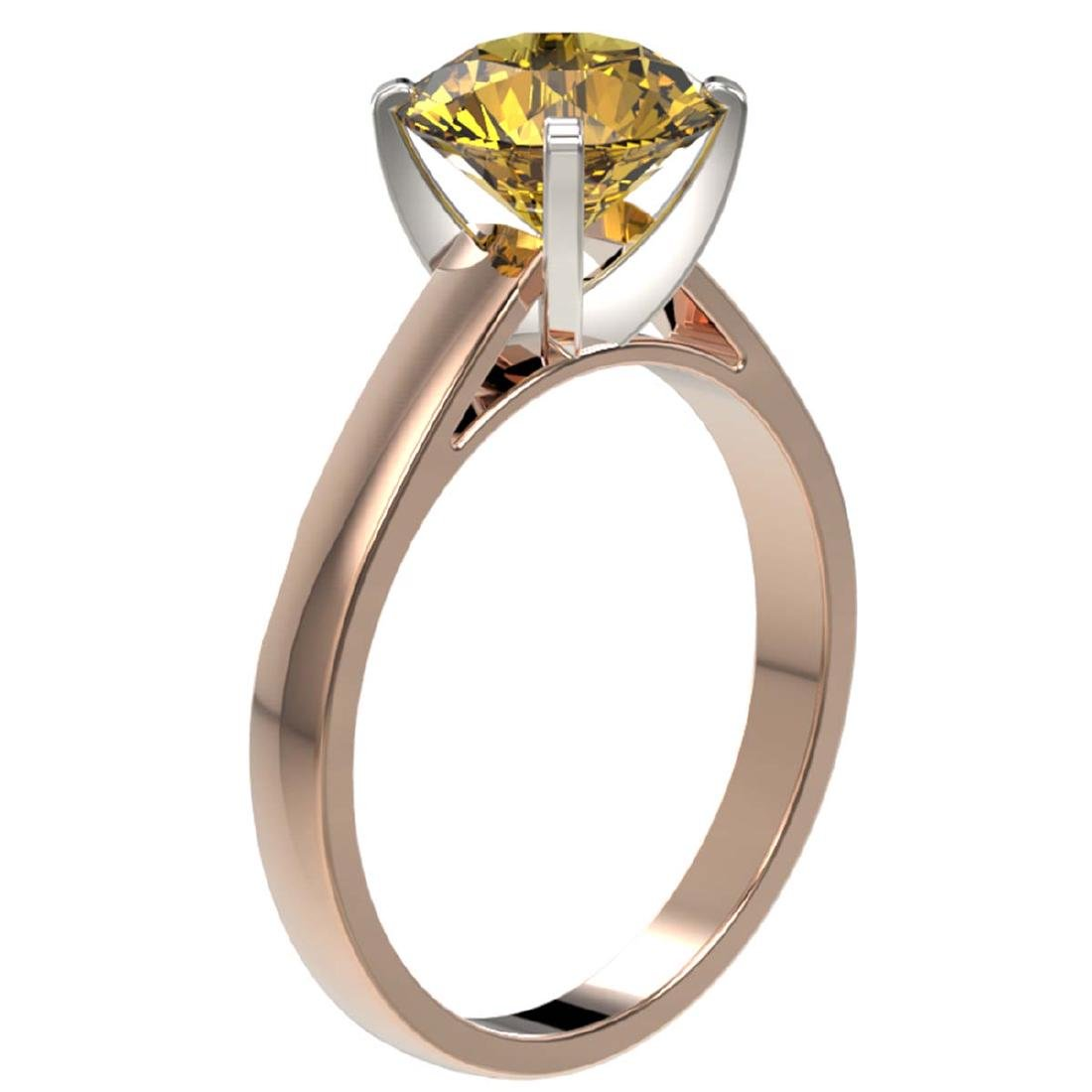 2.50 CTW Certified Intense Yellow SI Diamond Solitaire - 3