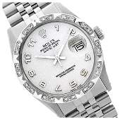 Rolex Mens Stainless Steel QuickSet Arabic Dial with