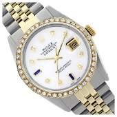 Rolex Ladies Two Tone 14K GoldSS Diam Dial