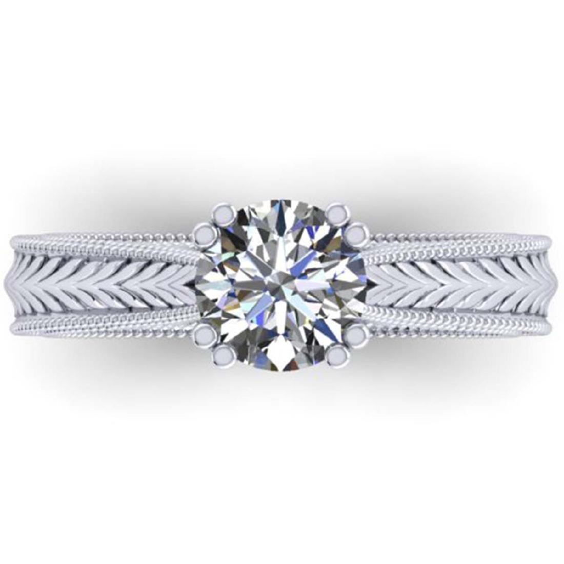 1.06 ctw Solitaire VS/SI Diamond Ring 14K White Gold -