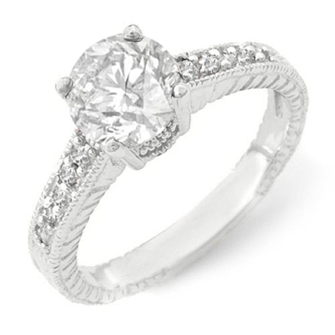 1.05 ctw VS/SI Diamond Solitaire Ring 18K White Gold -