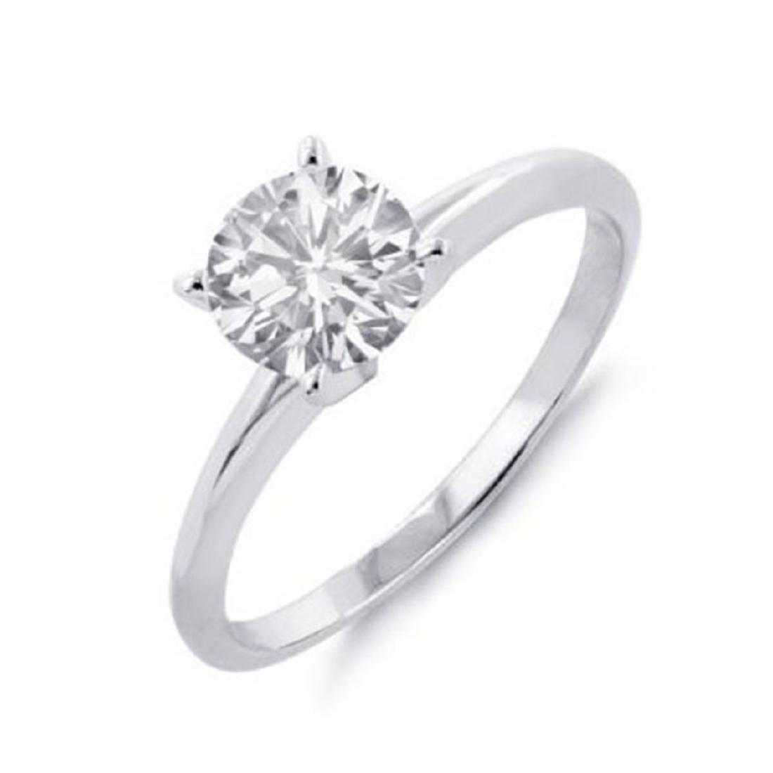 1.0 ctw VS/SI Diamond Solitaire Ring 18K White Gold -
