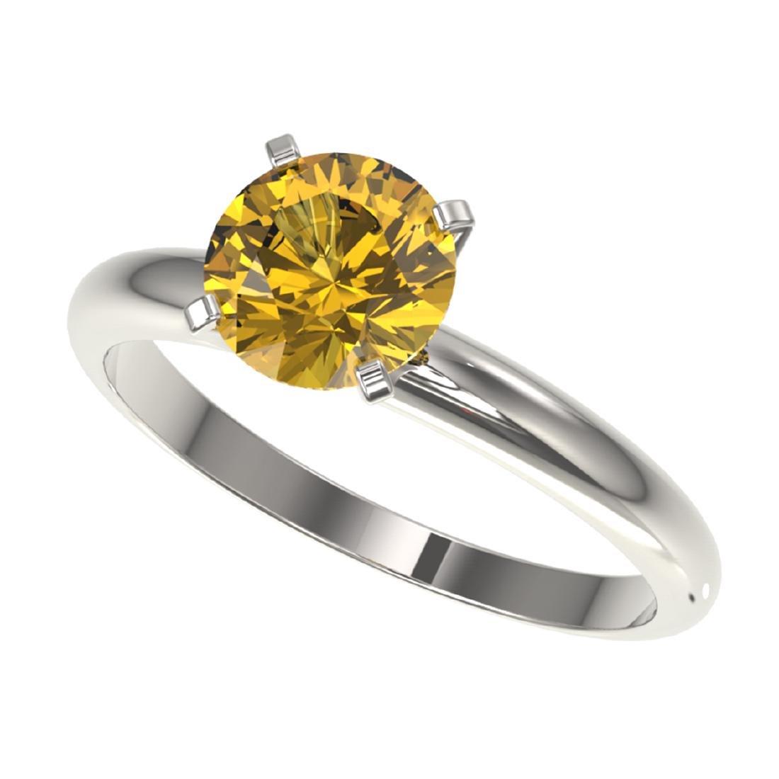 1.50 ctw Intense Yellow Diamond Solitaire Ring 10K