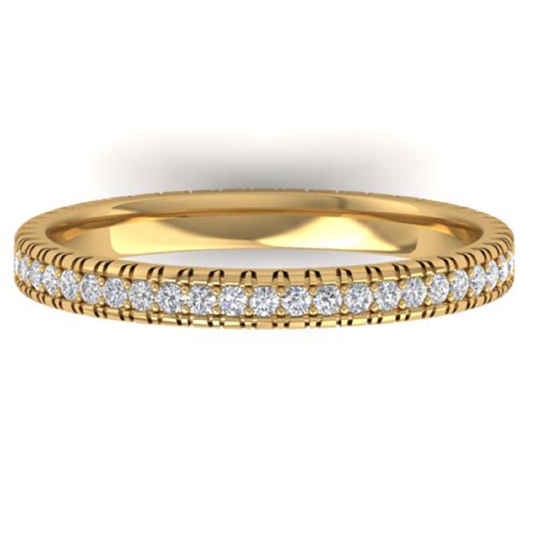 0.75 ctw VS/SI Diamond Eternity Band Ring 14K Yellow